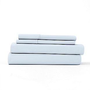 Home Collection Premium Ultra Soft 4-Piece Full Bed Sheet Set, Light Blue, large