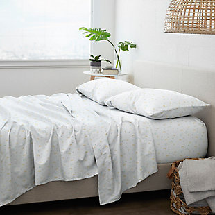 Home Collection Premium Ultra Soft Bluebirds Pattern 3-Piece Twin Bed Sheet Set, Light Blue, large