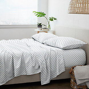 Home Collection Premium Ultra Soft Dots Pattern 3-Piece Twin Bed Sheet Set, Navy, large