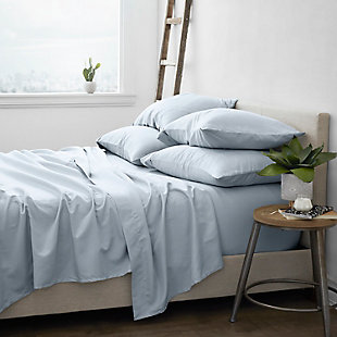 Home Collection Luxury Ultra Soft 6-Piece California King Bed Sheet Set, Light Blue, rollover