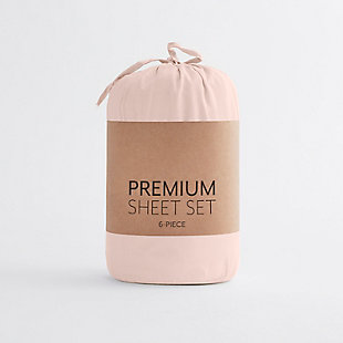 Home Collection Luxury Ultra Soft 4-Piece Twin Bed Sheet Set, Blush, large
