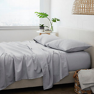 Home Collection Premium 4-Piece Ultra Soft Flannel California King Bed Sheet Set, Ash Gray, large