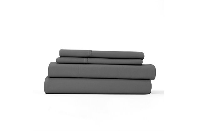 Home Collection Premium 4-Piece Ultra Soft Flannel Queen Bed Sheet Set, Charcoal, large