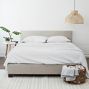 Home Collection Premium 3-Piece Ultra Soft Flannel Twin Bed Sheet Set, White, large