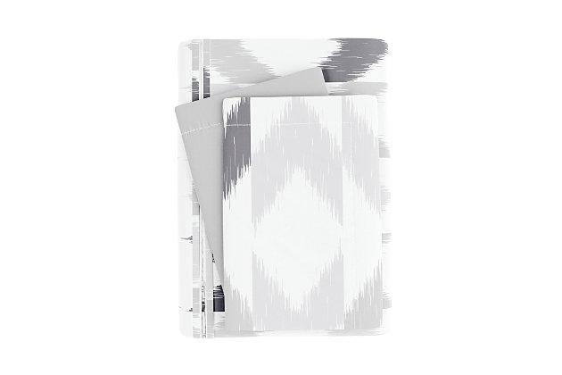 Home Collection Premium Ultra Soft Chevron Sleep Pattern 2-Piece Reversible Twin Duvet Cover Set, Ash Gray, large