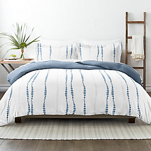 Home Collection Premium Ultra Soft Urban Vibe Pattern 3-Piece Reversible Twin Duvet Cover Set, Navy, rollover