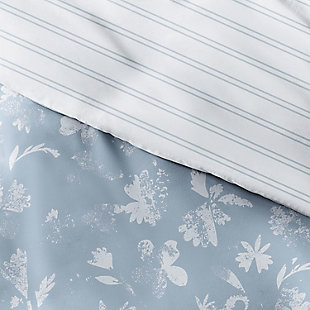 Home Collection Premium Ultra Soft Country Home Pattern 2-Piece Reversible Twin Duvet Cover Set, Light Blue, large