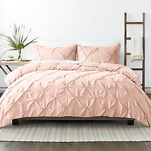 Home Collection Premium Ultra Soft 2-Piece Pinch Pleat Twin Duvet Cover Set, Blush, large
