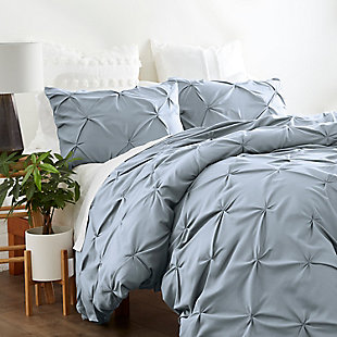 Home Collection Premium Ultra Soft 2-Piece Pinch Pleat Twin Duvet Cover Set, Light Blue, rollover