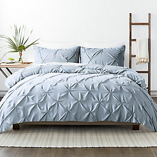 Home Collection Premium Ultra Soft 2-Piece Pinch Pleat Twin Duvet Cover Set, Light Blue, large