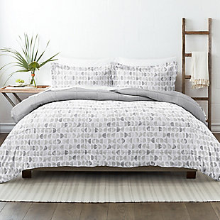 Home Collection Premium Down Alternative Moonlight Stars Reversible Twin Comforter Set, Ash Gray, rollover