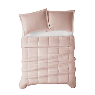 Cannon Solid 2-Piece Twin/Twin XL Comforter Set, Blush, large