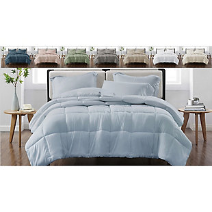 Cannon Solid 3-Piece King Comforter Set, Ivory, large