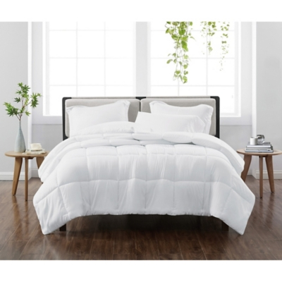 Cannon Solid 2-Piece Twin/Twin XL Comforter Set, White, large