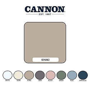 Cannon Solid 3-Piece Full/Queen Duvet Set, Khaki, large