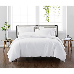 Cannon Solid 2-Piece Twin/Twin XL Duvet Set, White, rollover