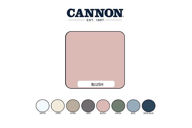 Cannon Solid 3-Piece King Quilt Set, Blush, large