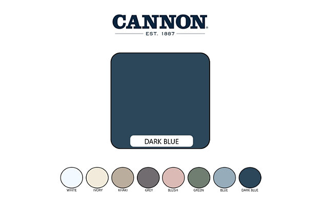 Cannon Solid 3-Piece Full/Queen Quilt Set, Dark Blue, large