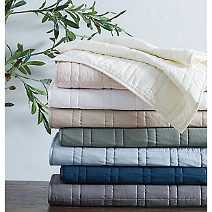 Cannon Solid 2-Piece Twin/Twin XL Quilt Set, White, large