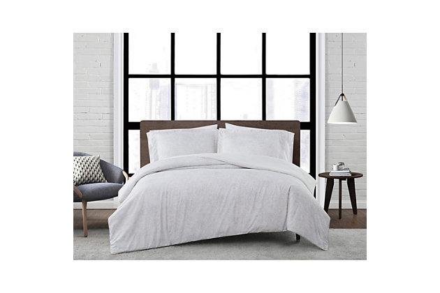 London Fog Sasha Paisley 2-Piece Twin XL Comforter Set, White/Neutral, large