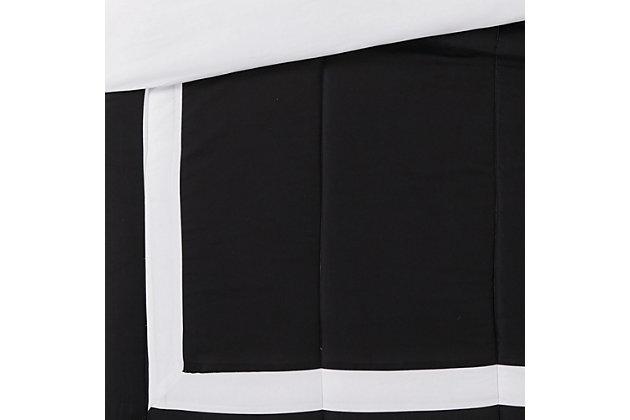 London Fog Raynes Hotel 5-Piece Queen Comforter Set, White/Black, large