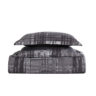 Style 212 Camden Plaid 2-Piece Twin Comforter Set, Charcoal, large