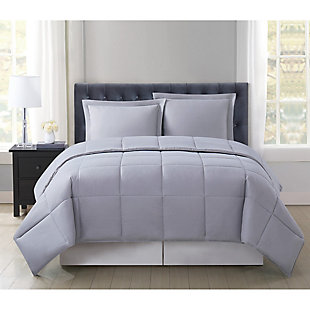 Truly Soft Everyday Reversible 2-Piece Twin XL Comforter Set, Gray, rollover