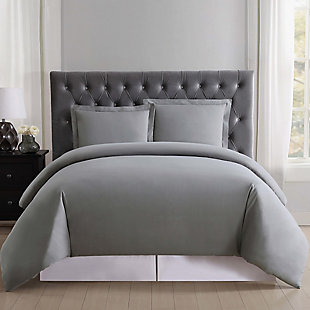 Truly Soft Everyday 3-Piece King Duvet Set, Gray, large
