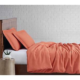 Truly Soft Everyday 2-Piece Twin XL Duvet Set, Orange, large
