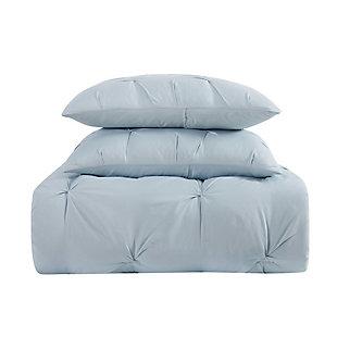 Truly Soft Pleated 2-Piece Twin XL Duvet Set, Light Blue, large