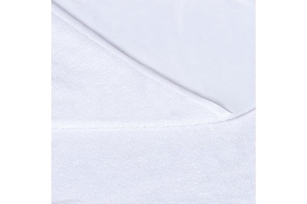 London Fog Premium Waterproof Hypoallergenic Twin Mattress Protector, White, large