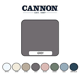 Cannon Heritage 6-Piece Full Sheet Set, Gray, large