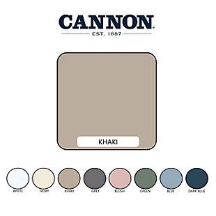 Cannon Heritage 7-Piece Split King Sheet Set, Khaki, large