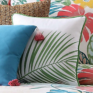 Oceanfront Resort Coco Paradise Embroidered Palm Pillow, , rollover