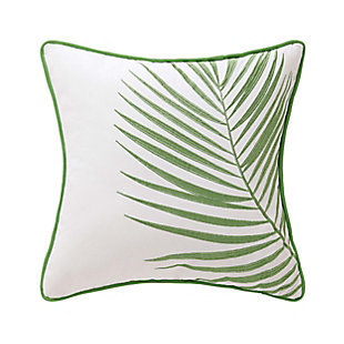 Oceanfront Resort Coco Paradise Embroidered Palm Pillow, , large