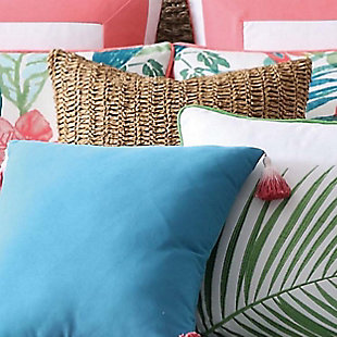 Oceanfront Resort Coco Paradise Raffia Pillow, , rollover