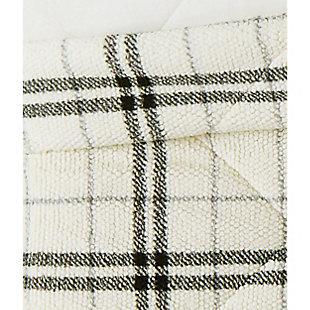 London Fog Popcorn Plaid Plush King Blanket, Charcoal/Gray, large