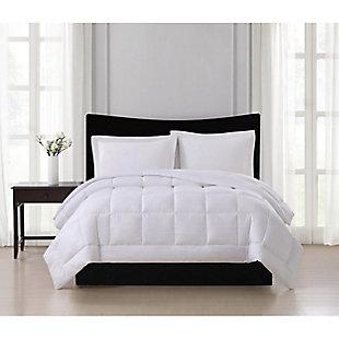 London Fog Embossed Stripe Seersucker Twin/Twin XL Down Alternative Comforter, White, rollover
