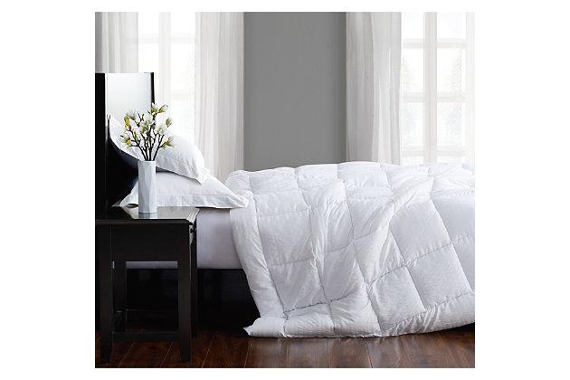 London Fog Embossed Stripe Seersucker Twin/Twin XL Down Alternative Comforter, White, large
