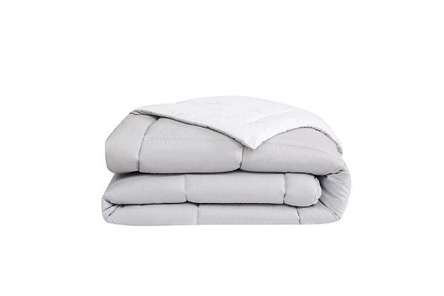 London Fog Super Soft Full/Queen Down Alternative Comforter, Gray/White, large