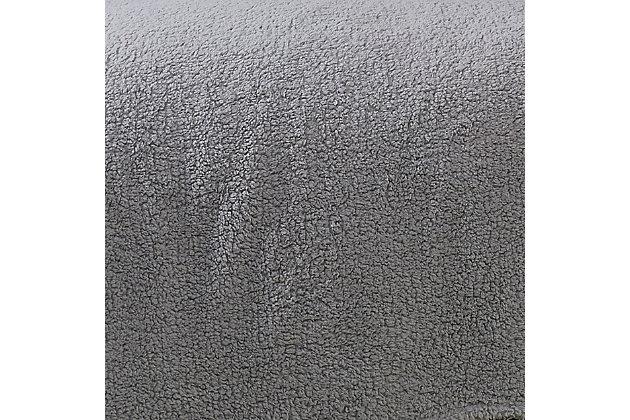 Brooklyn Loom Marshmallow Sherpa Throw, Gray, large