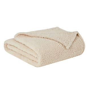 Brooklyn Loom Marshmallow Sherpa Throw, Ivory, large