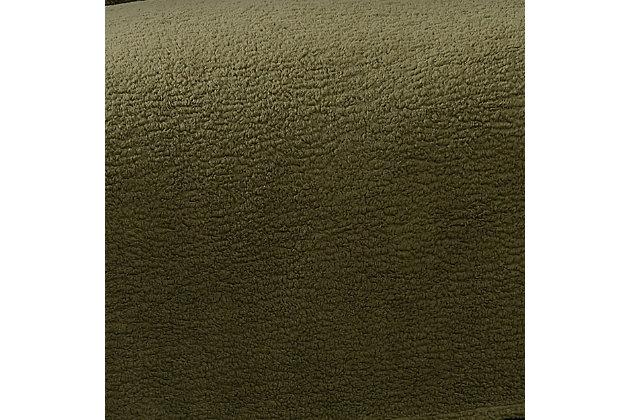 Brooklyn Loom Marshmallow Sherpa Throw, Olive Green, large