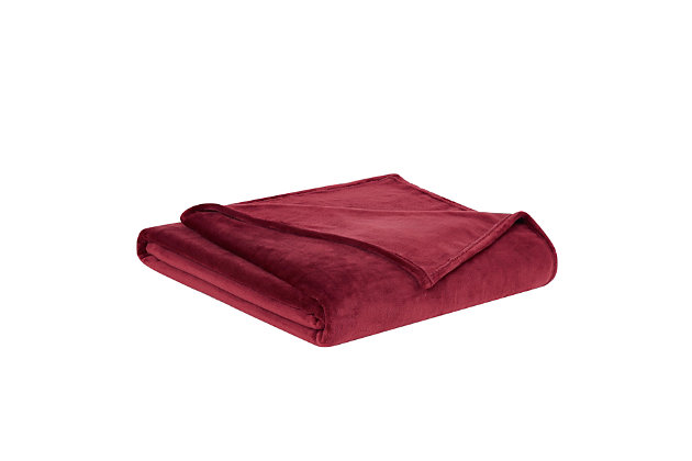 Truly Soft Velvet Plush Throw, Cabernet, large