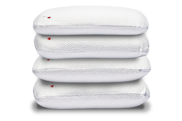 I Love Pillow Medium Queen Rayon From Bamboo Pillow, White, large