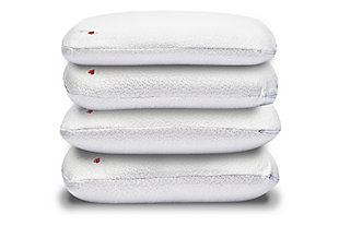 I Love Pillow High Profile Queen Rayon From Bamboo Pillow, White, large