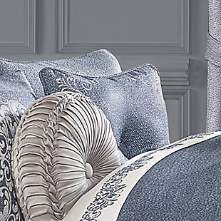 """J. Queen New York Richmond 18"""" Square Embellished Decorative Throw Pillow, , rollover"""