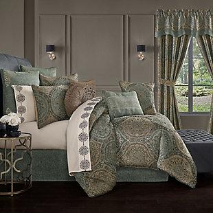 J. Queen New York Dorset Queen 4 Piece Comforter Set, Spa, rollover