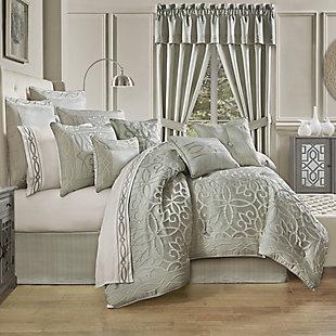 Five Queens Court Nouveau Queen 4 Piece Comforter Set, Spa, rollover