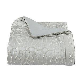 Five Queens Court Nouveau Queen 4 Piece Comforter Set, Spa, large